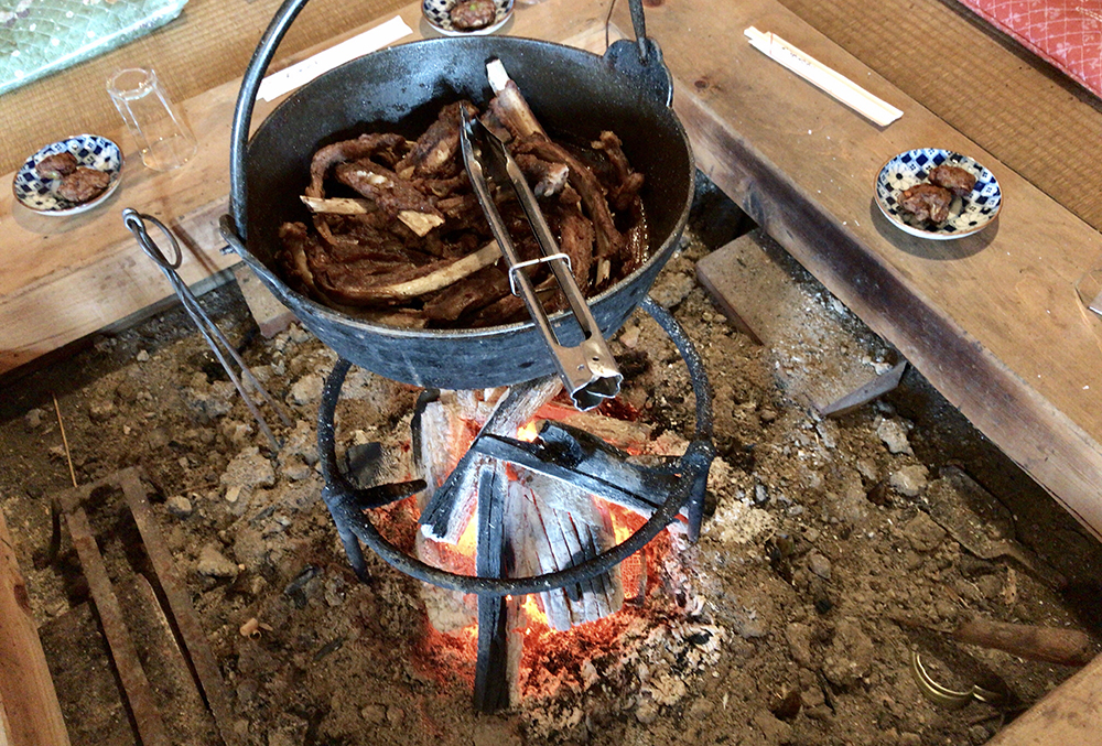 岡山県北部、新見のイノシシ肉